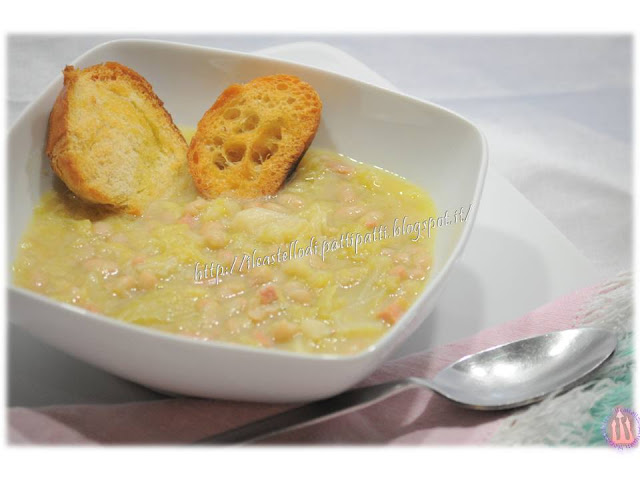 Zuppa fagioli e verza