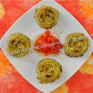 Rose di mousse di zucchine