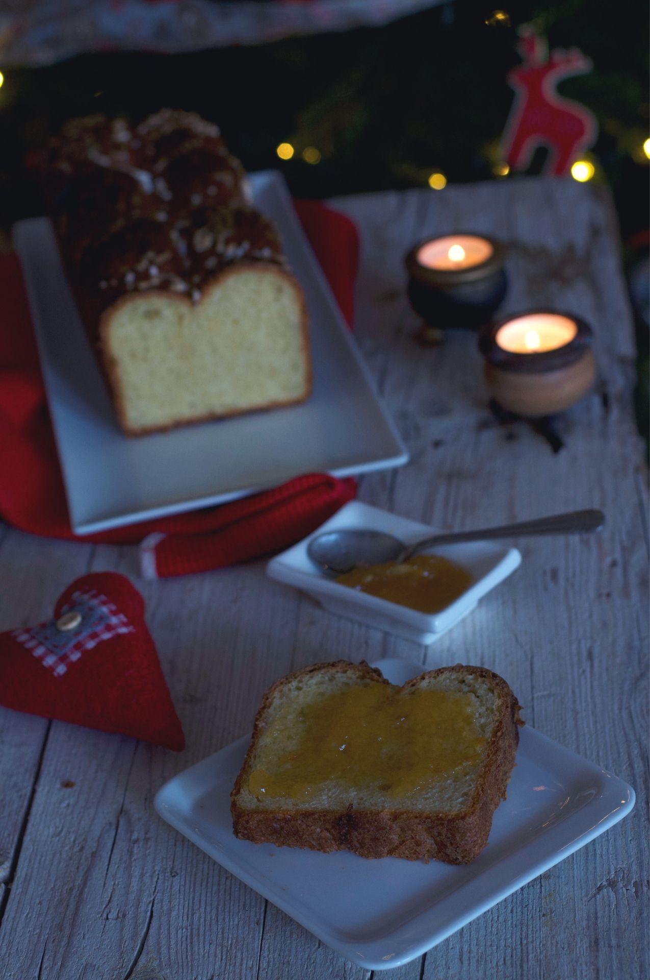 marmellata di arancia, granella di zucchero