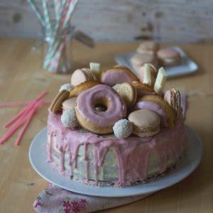 Coconut and pineapple chiffon cake